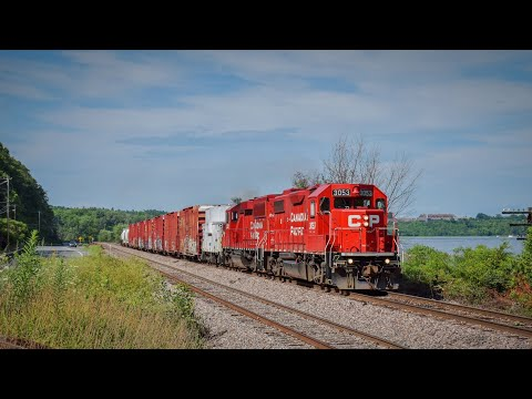 Eight Trains On The Canadian Pacific: Railfanning The D&H North End!!