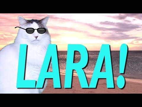 Happy Birthday Lara Epic Cat Happy Birthday Song Youtube