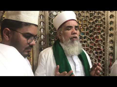 Hajrath Syed Kamil sahib Qadiri recited Dua at Delhi Hazrath Nijamudin (ra) Darbar sheriff