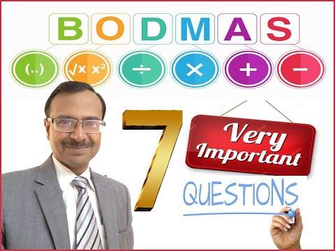 BODMAS - Seven Important Problems