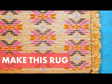 Make Your Own Jute Rope Rug + How to Stencil a Rug With Paint -  HGTV Handmade