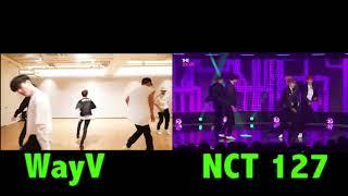 WayV vs  NCT 127 Comeback Dance Choreography Comparison