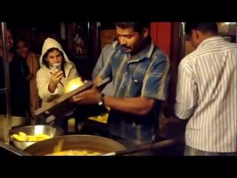 Fresh Banana/Plantain chips vendor, Munnar, Kerala, India.