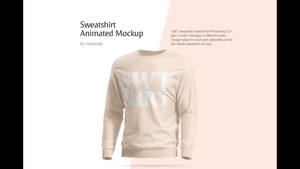 Download Sweatshirt Animated Mockup In Apparel Mockups On Yellow Images Creative Store