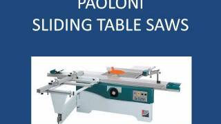 Paoloni Table Saws Parts