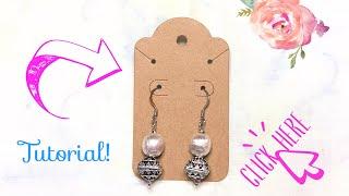 How to make drop earrings tutorial
