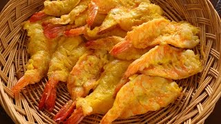 Shrimp Pancakes (saeujeon: 새우전) English & Korean Captions