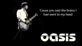 Oasis-Don't look back in anger lyrics