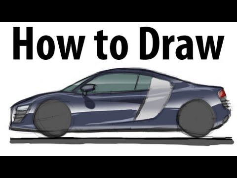 How to draw an Audi R8 - Sketch it quick!