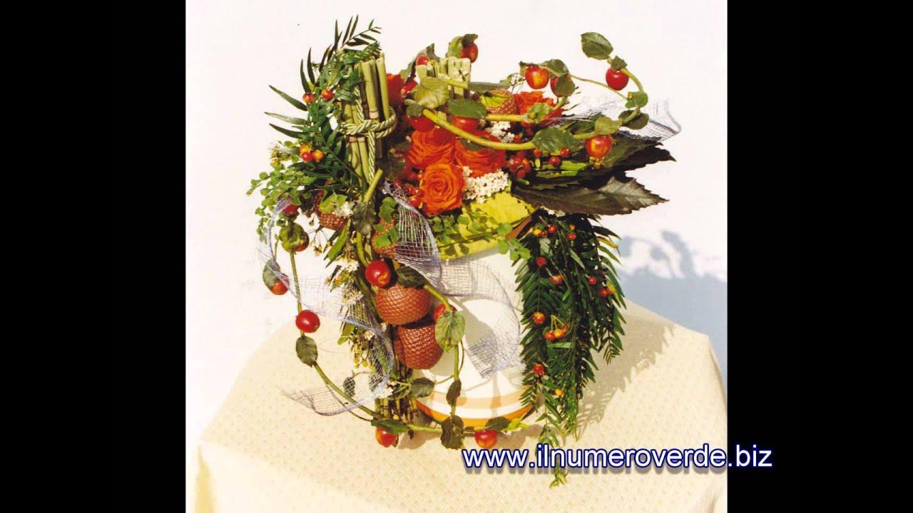 Eccezionale Composizioni floreali con fiori freschi e artificiali : galleria  HJ74