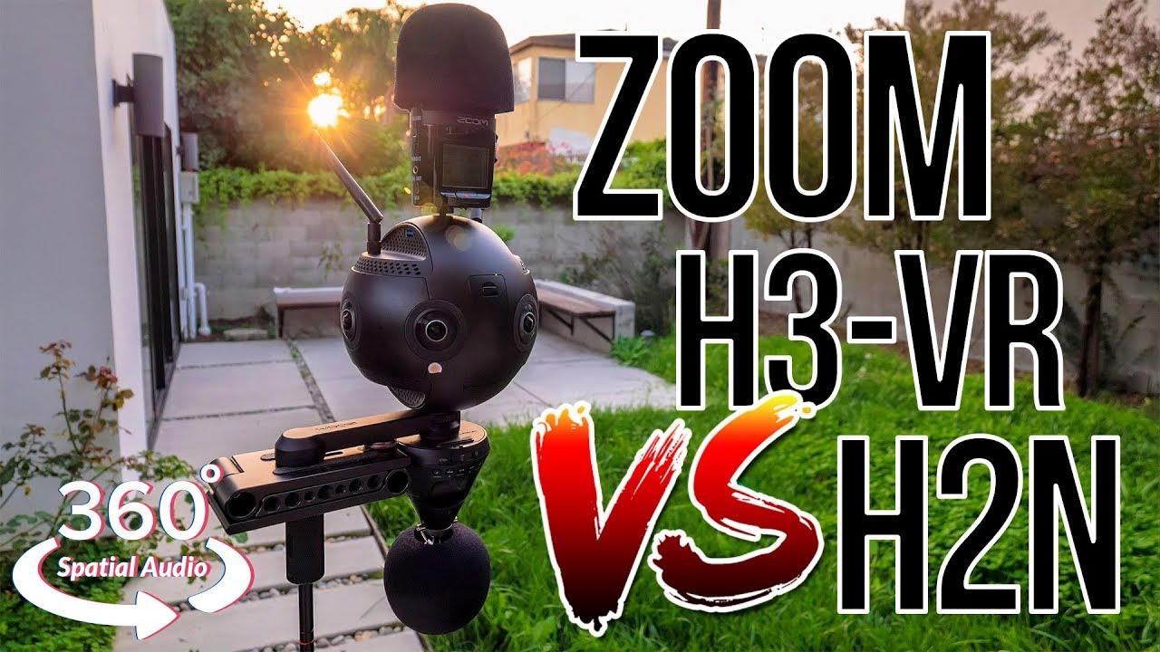 Zoom H3-VR vs H2N vs Insta360 Pro 2 in 360° w/ Spatial Audio (8D Audio 🎧)