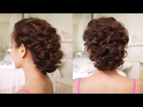 Easy Messy Updo Hair Tutorial - YouTube