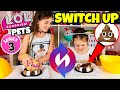 LOL SURPRISE PETS SWITCH UP CHALLENGE!! L.O.L SERIES 3 WAVE 1 & WAVE 2 + FUNNY PRANK!!!! Up and Play