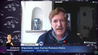 Intervención Del Dip. Juan Carlos Romero Hicks  Pan  En Comisión Permanente, 27 De Mayo 2020.