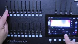 ETC ColorSource 20 Default Show for 18 Units plus LED striplight run