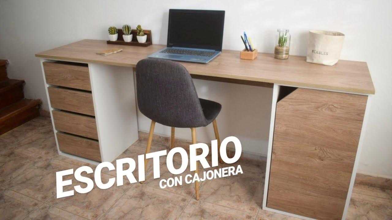 Escritorio Con Cajonera Desk With Drawers Proyecto Mueble