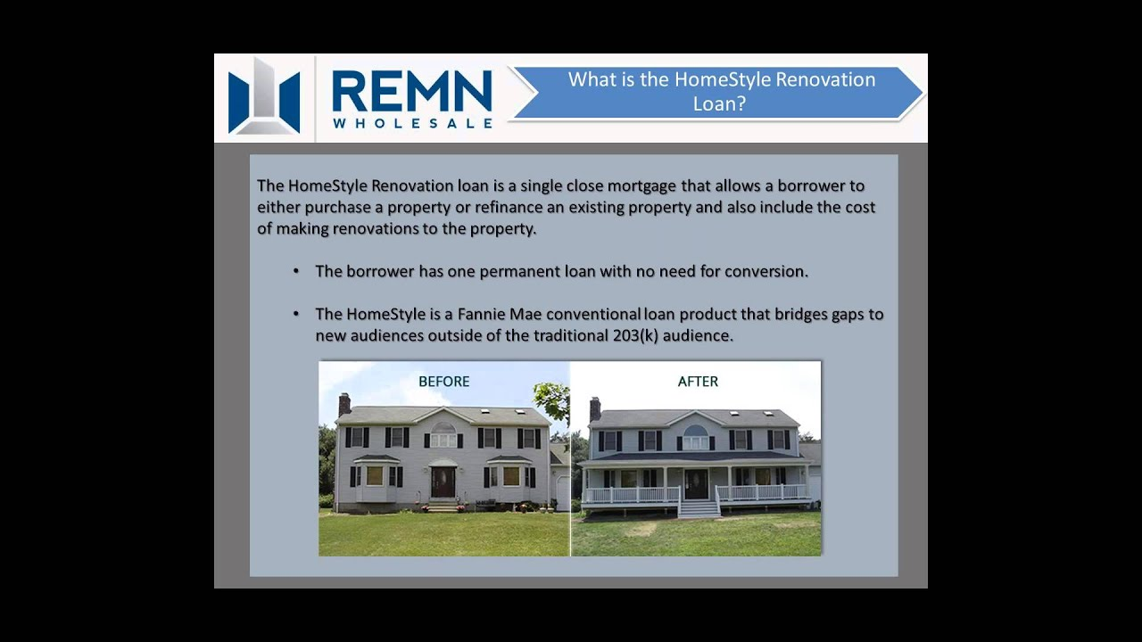 Homestyle Lending With Remn Wholesale