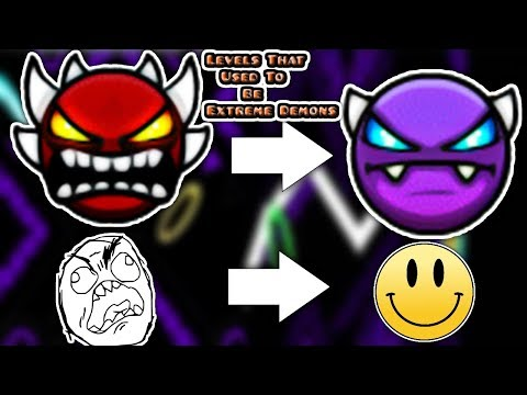 (Old) Top 5 Levels That Used To Be Extreme Demons - Geometry Dash