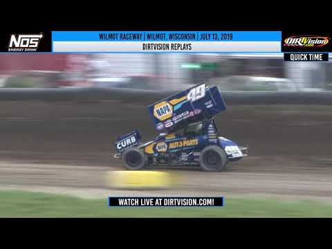 DIRTVision Replays from Hartford Speedway in Wilmot, Wisconsin on July 13th, 2019 - World of Outlaws NOS Energy Drink Sprint Cars. - dirt track racing video image