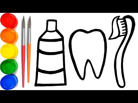 Drawing Teeth Whitening Dentist Kit - Painting & Coloring Pages for Kids