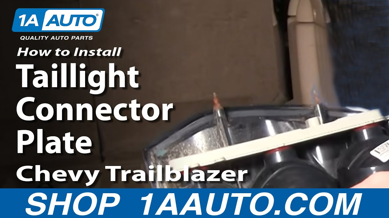 Chevy Tahoe Tail Light Wiring Diagram How To Install Repair Replace Taillight Connector Plate Trailblazer 02 09 1aautocom Youtube