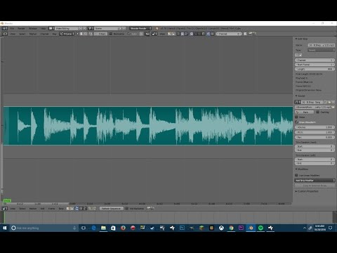 Blender quick tip: rendering a video -including the sound