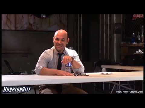 Ian Gomez Snapper Carr  Supergirl Season 2 On Set