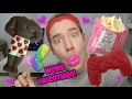 TRYING WEIRD VALENTINES CANDY!
