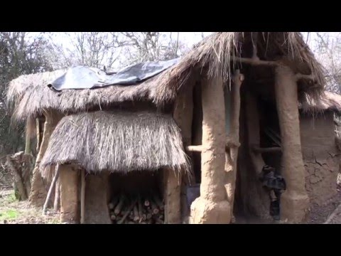 Man builds mud hut in Watford forest