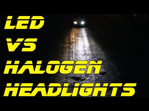 led headlights install review led vs halogen head light bulbs youtube. Black Bedroom Furniture Sets. Home Design Ideas