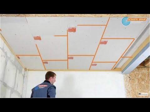 Звукоизоляция потолка Зипс Модуль Инструкция по монтажу ЗИПС-Модуль, Звукоизоляция потолка видео