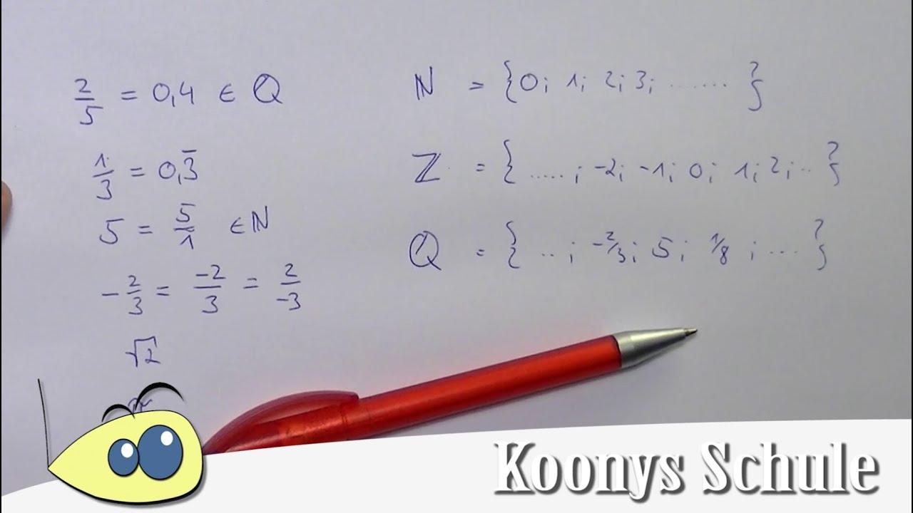Was ist eine rationale Zahl? Rationale Zahlen kurz erklärt ...