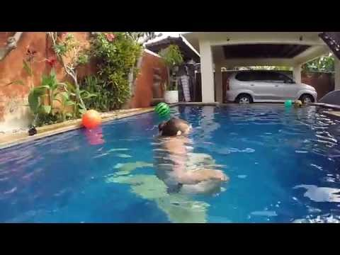 Girls with Balls in Bali Pools