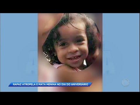 Menina de três anos morre atropelada no dia do aniversário