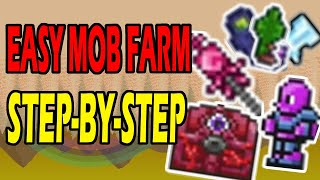How To Set Uṗ Easy Mob Farm For Hardmode   Step-By-Step   Terraria 1.4.1