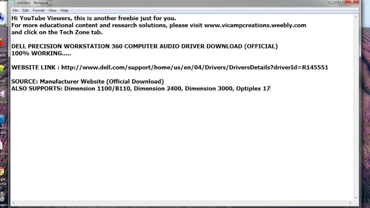 DRIVER CONTROLEUR ETHERNET DELL DIMENSION 3000
