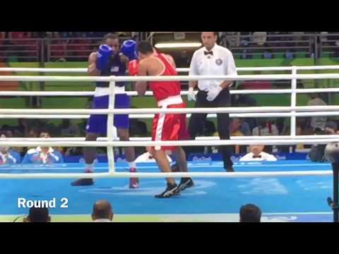 Chalres Conwell ( USA ) gets robbed of Gold medal dreams against Vikas Krishan (India )2016 Olympics