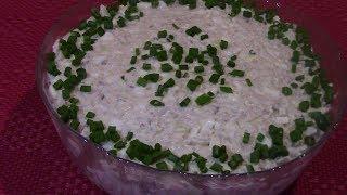 ВКУСНЫЙ Салат из рыбных консервов,салат из САРДИНЫ с рисом и яйцом,Давно Забытый, но Очень Вкусный