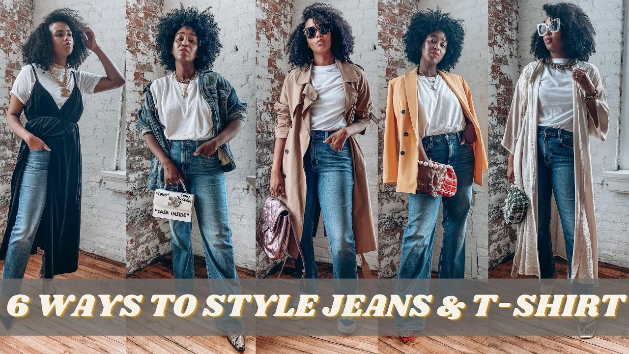 6 WAYS TO STYLE JEANS AND T-SHIRT LOOK | Everyday Outfit Ideas | THE YUSUFS