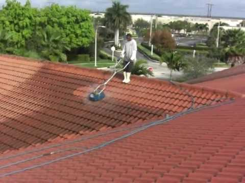 How To Pressure Clean Tile Roofs At Up To 2,500 Sq. Ft. Per Hour. Dan Swede  800 666 1992