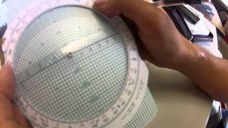 航法計算盤:三角関数を使った横風成分の出し方