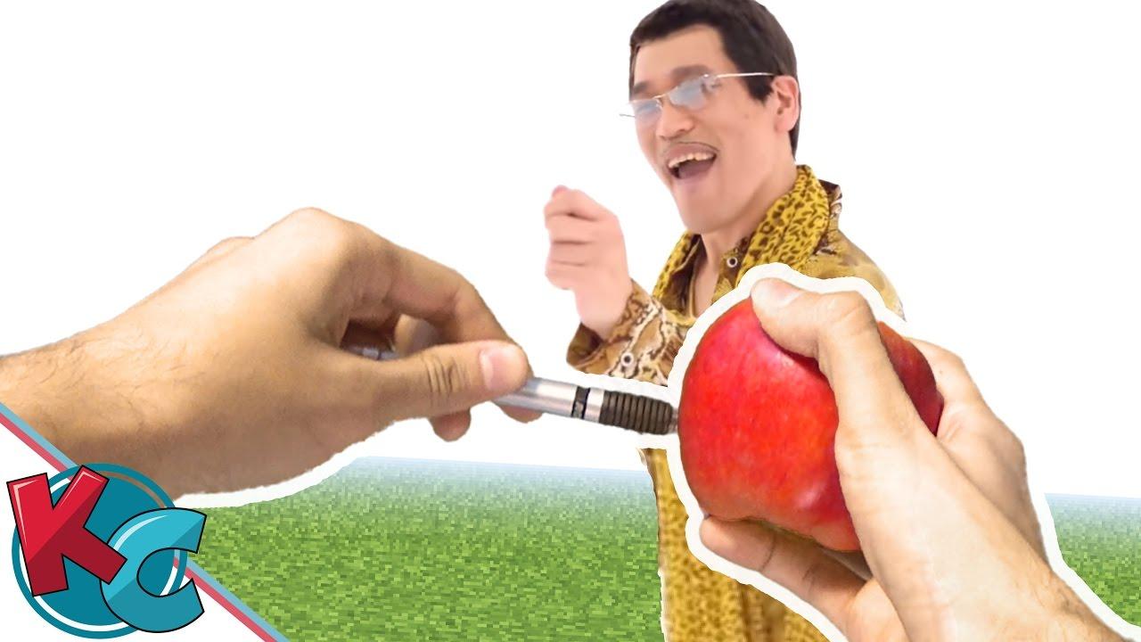 PPAP Pen Pineapple Apple Pen - Realistic Minecraft