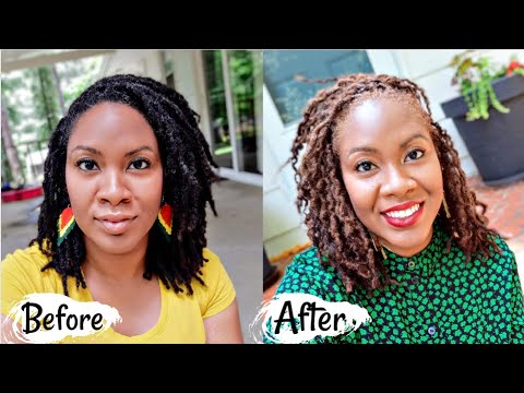 How I Colored My Locs Using Dark & Lovely: Golden Bronze | Naturally Michy