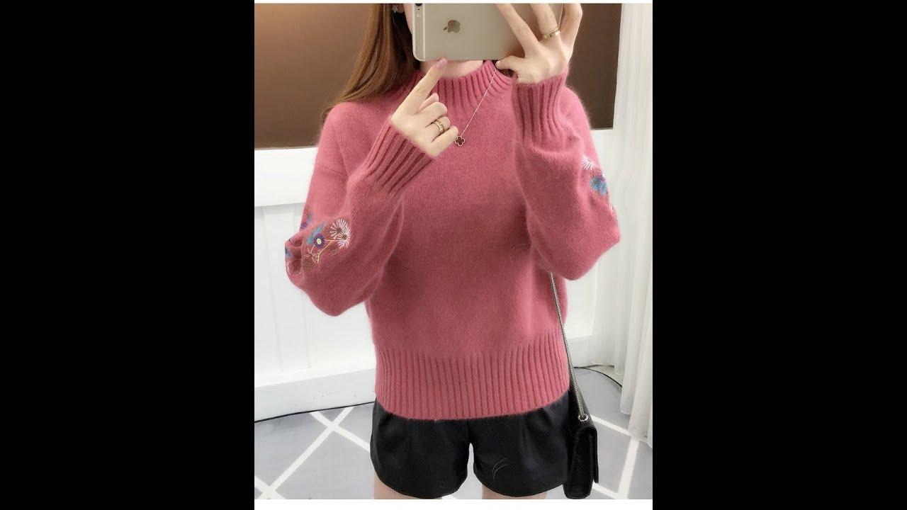 Các mẫu áo len nữ hót nhất | cách phối đồ với áo len nữ!!