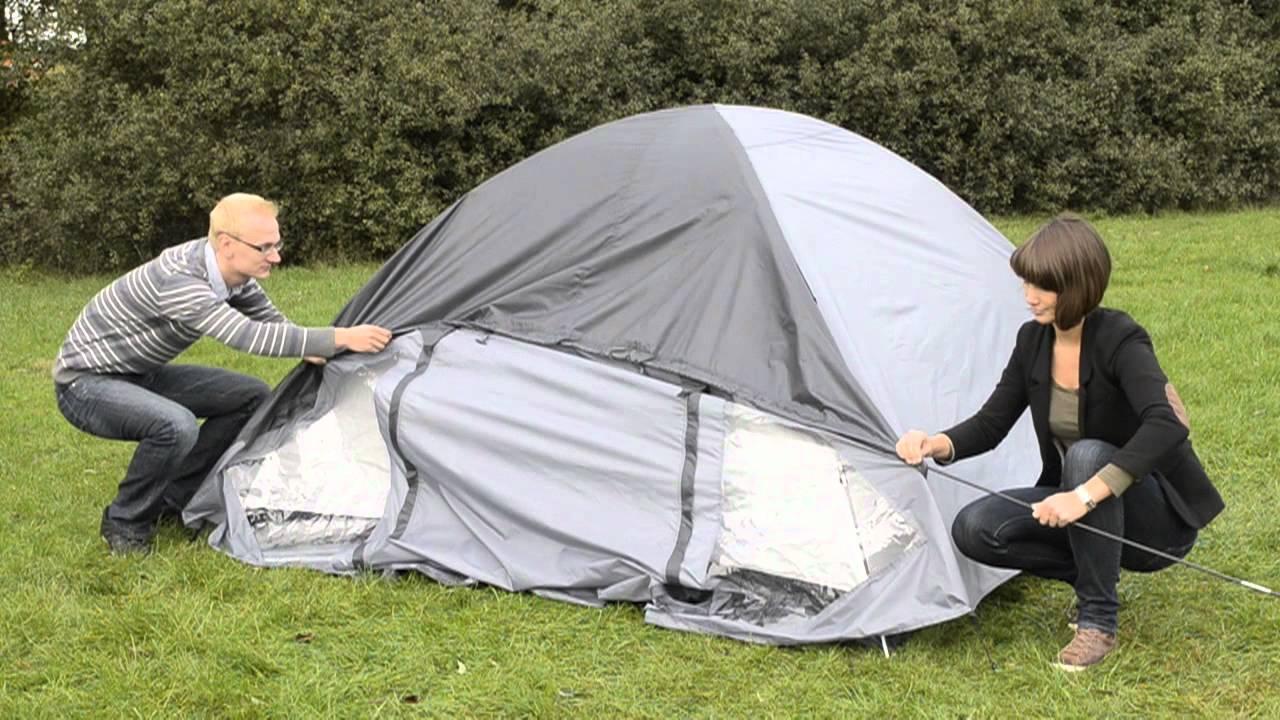 ein zelt aufbauen englisch