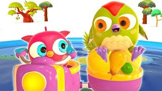 Kids Learn Fruit with Hop Hop the Owl: Educational Cartoons for Babies