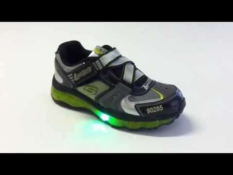 Skechers Leuchtschuhe S Lights 90401 BKRY YouTube