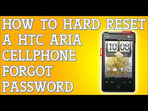 Forgot Password HTC Aria How To Hard Reset