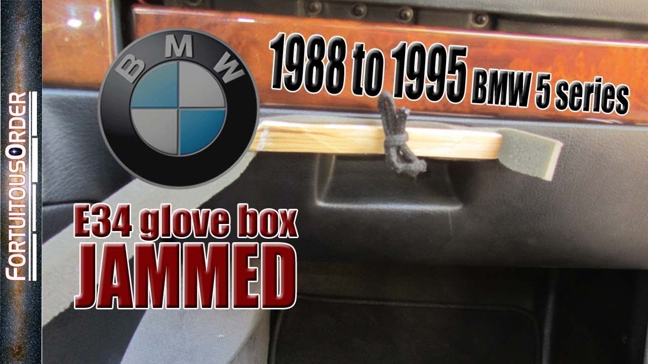 E34 Glove Box Stuck 1988 To 1995 Bmw 5 Series Youtube