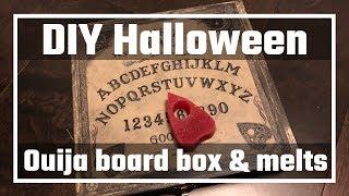 DIY Halloween Ouija board custom box with wax melts